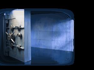 Open Bank Vault Door in Bank heist escape room at lockbuster games orlando